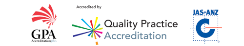 Centre Medical Practice accreditation logos