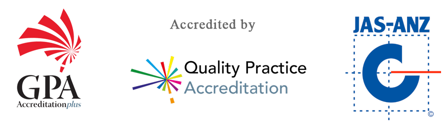Centre Medical Practice accredited logos